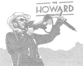 Scott Weiland Lyric Poster Print - 24x36 - Handmade with Lyrics - Black and Gray - Stone Temple Pilots - STP - Fly - Typography