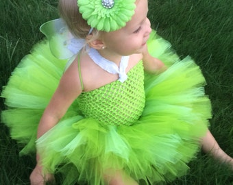 Tinkerbell inspired Fairy Tutu Costume, Fairy tutu, Green Tutu, Lime Green Tutu