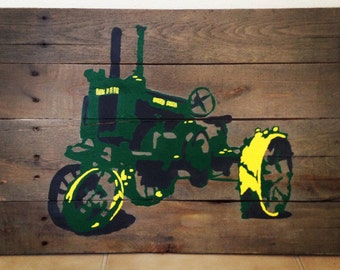 Tractor On Repurposed Pallet Wood