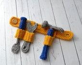PATTERN Tool Belt Toy - Hammer, Wrench, Screwdriver - Crochet