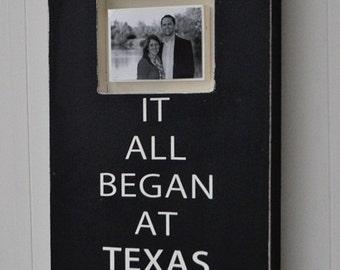 Wedding Photo Frame, Bridal Shower Gift, Personalized Engagement Gift, Wedding Gift, Custom Wedding Sign