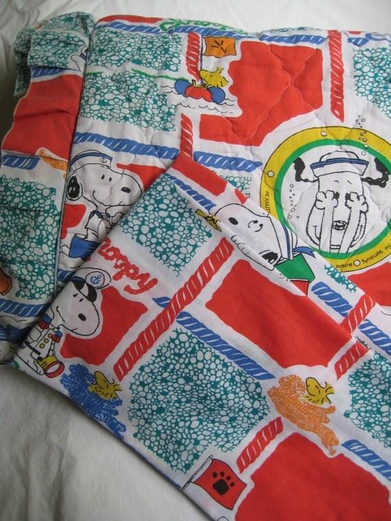 Rare Vintage Snoopy Woodstock Peanuts Charlie Brown Bedding