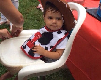 Baby One Year Cowboy Bib