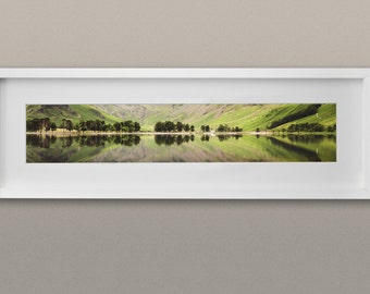 Landscape Photography Panorama Print. Lake District Reflection.