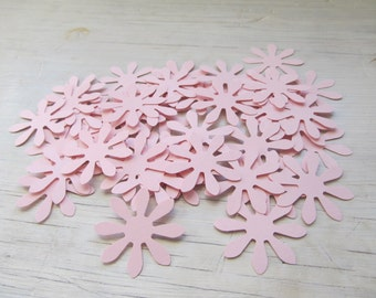 Pink Flower Die Cuts, Confetti, Table Decor - Set of 50