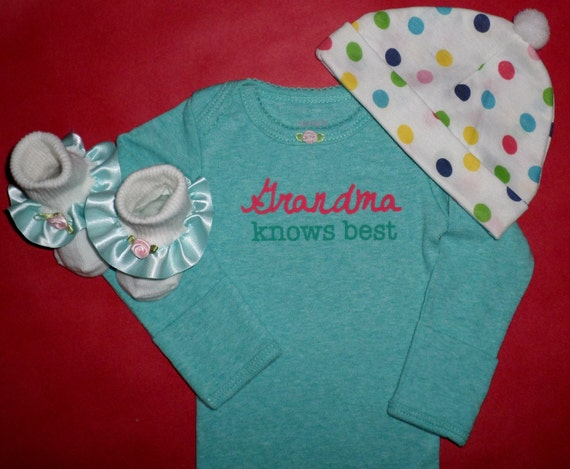 Baby Gift From Grandma : Grandma knows best newborn baby girl bodysuit gift set