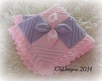 KNITTING PATTERN instructions to knit baby or reborn car seat blanket dk