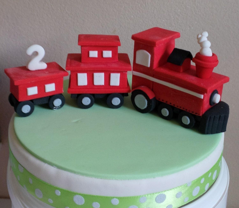 Choo Choo Train Fondant Cake Topper Handmade Edible Cake