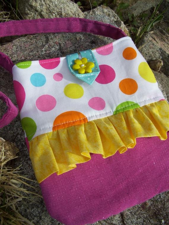 Polka Dot Toddler Purse, Little Girls Purse with Ruffle