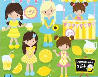 Lemonade stand clipart commercial use, vector graphics, digital clip art, digital images - CL682