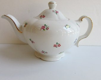 Vintage Teapot Ellgreave England Shabby Chic Floral