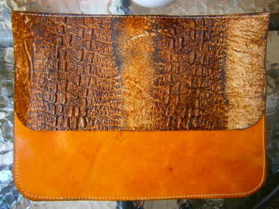 Snake Leather bag, Snake Leather Clutch, Hand bag, Ipad sleeve, Evening clutch, leather clutch, brown clutch, snake leather clutch,