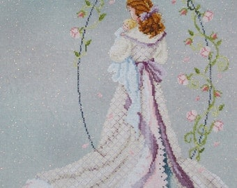 Mother and Baby Under The Arbor of Love Unframed Cross Stitch Picture, Passione Ricamo Cross Stitch Home Decor