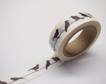 Bird  Washi / Masking Tape - 10M