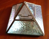 Pyramid Shaped Brass and Glass Box Terrarium