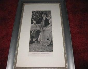 """GOETHE AND FRIEDERIKE Framed Photogravure 10 1/2"""" x 16 1/2"""""""