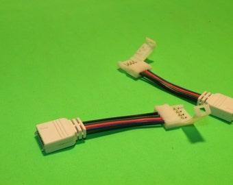 "6"" 4 Pin Slip Connector for RGB LED Strip Light - By Custom LED Kits"