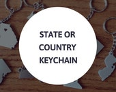 State or Country Keychain -  Keyring - Custom Keychain