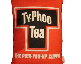 Upcycled Typhoo Tea Cushion
