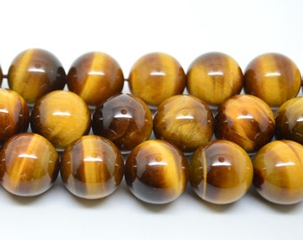 14MM  Natural  African  Tigereye Beads Round Gemstone