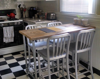 Industrial Pipe Leg  Dining Table, Louisiana(Small)