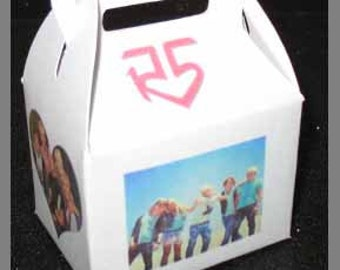 R5 favor box, R5 birthday favor box, R5 Party Supplies