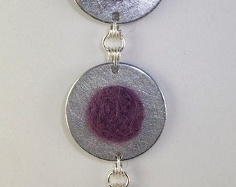 Hardware-wool necklace