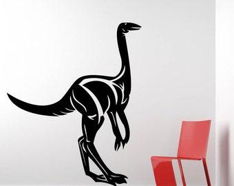 Struthiomimus Dinosaur Prehistoric Animal Vinyl Wall Art Graphic Decal