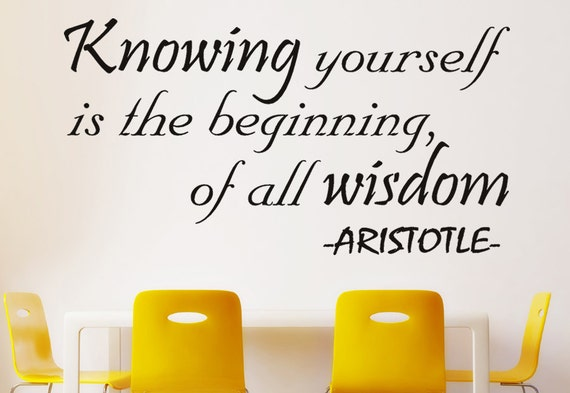 Knowing Yourself is the Beginning of all Wisdom by NuovoCreations
