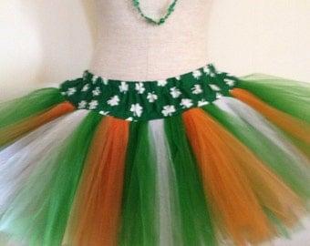 Adult Shamrock St. Patrick's Day Irish Flag Parade TuTu