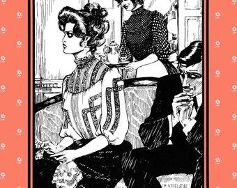 Folkwear Gibson Girl Blouse Victorian - Edwardian Style Size X-3XL Sewing Pattern # 205
