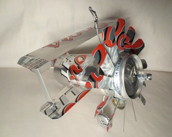 Airplane Whirl-A-Gig Made From Coors Light Beer Cans