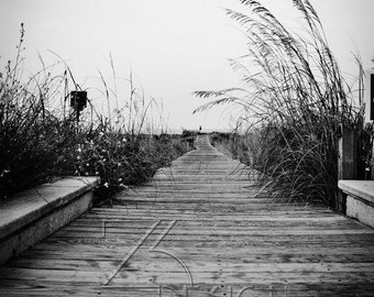Black & White, Fine Art Photography Print, Boardwalk
