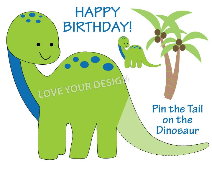 dinosaur pin the tail on the dinosaur birthday game you With pin the tail on the dinosaur template