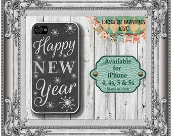Happy New Year iPhone Case, New Years Eve Phone Case, iPhone 4, 4s, iPhone 5, 5s, 5c, iPhone 6, 6s, 6 Plus, SE, iPhone 7, 7 Plus