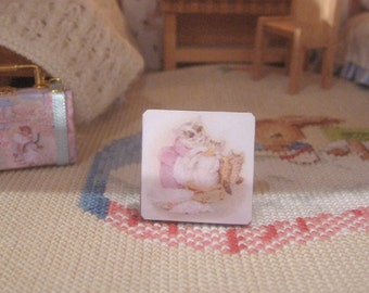 tom kitten  wall art picture plaque wooden miniature 12th scale dollhouse beatrix potter