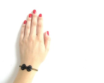 Leather Bow Bracelet Bow bracelet