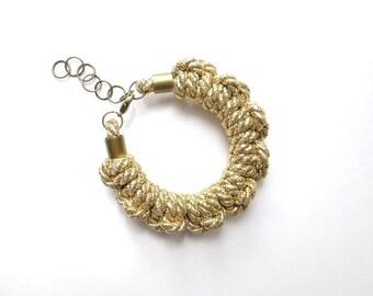 Gold Rope bracelet Rope knot bracelet