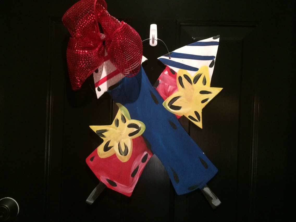 Fireworks Fourth Of July Summer Door Hanger By Younglovedecor