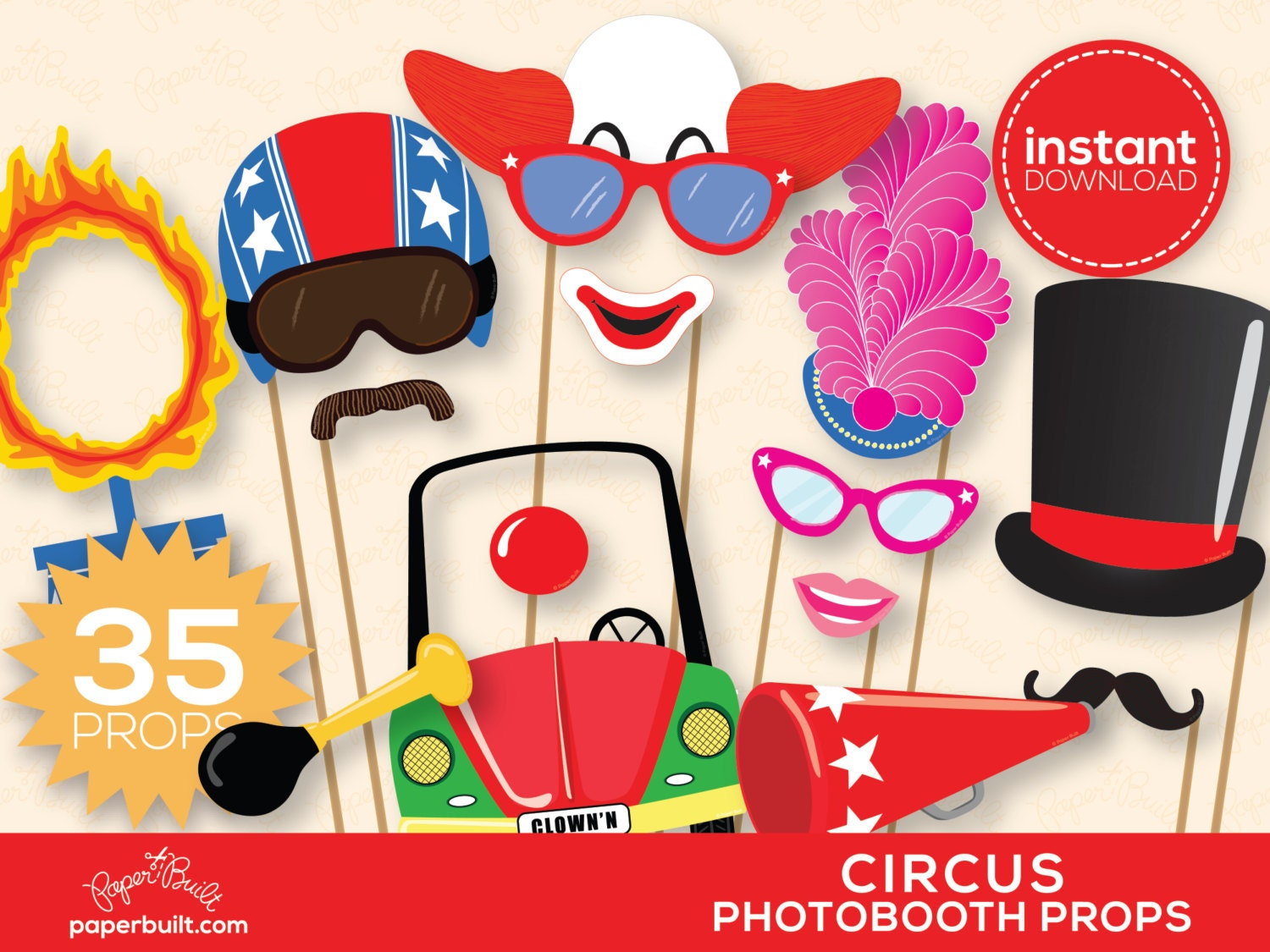 ... Photo Booth Props Printable Circus photography props dromheh.top