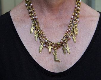 Milagro Necklace with Five Strands