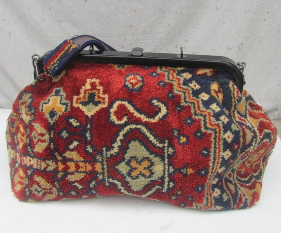 Sale Vintage Carpet Bag Suffolk England Tote Overnight Mary