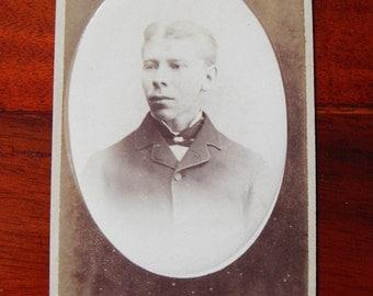 Carte de Visite of a young man , 1879