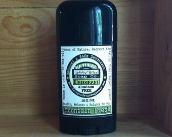 Natural Deodorant for MEN / Really Works  / Aluminum paraben FREE / Made with Organic Oils - Choose your Scent