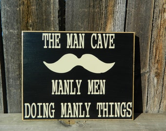MAN CAVE SIGN--Home Decor Guy Sign, Man Sign, Fathers Day Sign