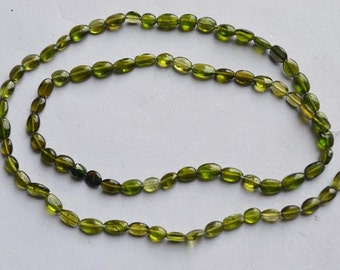 Chrome Tourmaline smooth oval 15 inch Strand