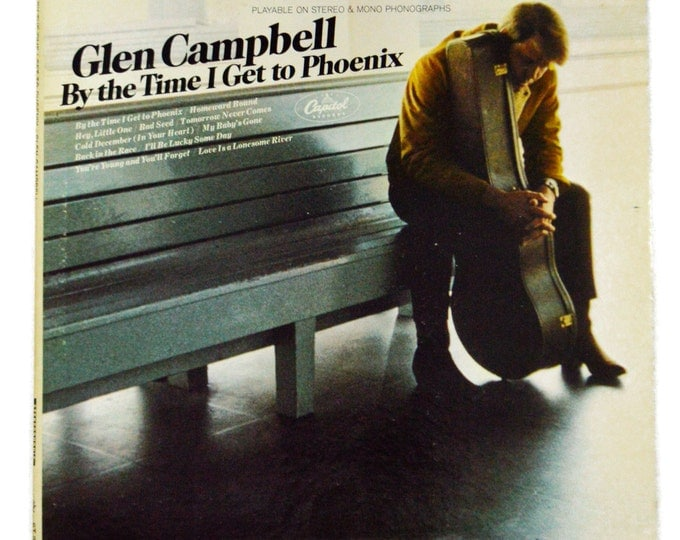 Vintage 60s Glen Campbell By The Time I Get To Phoenix Stereo Album Record Vinyl LP