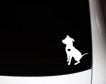 Sitting Floppy Ear Pit Bull Decal 10% Proceeds to Pit Bull Organization
