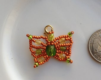 Beaded Butterfly Zipper Pull