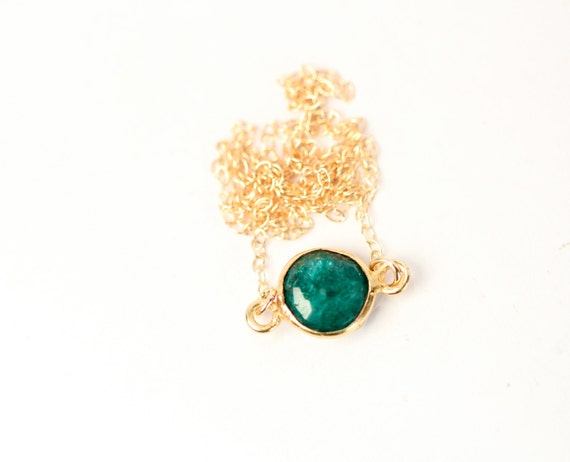 Items similar to Emerald necklace - may birthstone